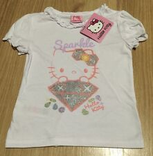 GIRLS HELLO KITTY SPARKLY T-SHIRT - BRAND NEW RRP £9.99