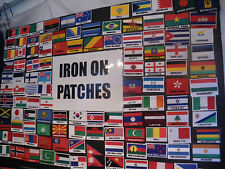 National Country Flag Embroidered Iron / or Sew On Badge Patch From Souvenirz UK