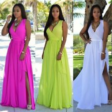 dress long bohemian chiffon Boho Summer Sexy Maxi Evening Beach Sundress dress