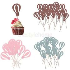 MagIDeal 10pcs Hot Air Balloon Cupcake Picks Cake Toppers Party Decoration