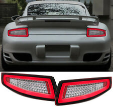 LED LIGHTBAR BACK REAR TAIL LIGHTS RED CLEAR for Porsche 911 997 Coupe Cabrio