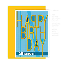 Son Happy Birthday card boy man uncle dad grandson nephew personalised message
