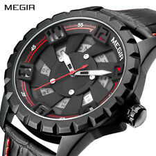 Luxury Brand MEGIR Men's Wrist Watch Luminous Military Sport Army Quartz Watches
