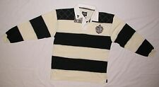 New Guinness Guiness Black & Cream Long Sleeve Rugby Shirt G3039