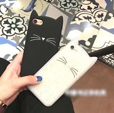 Kate Spade Kitty Cat Rubber Silicon Cute Soft Case Cover IPHONE 6 6s 7 8 Plus
