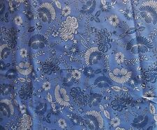 Blue Leaf Floral Design Cotton BY YARD / HALF YARD