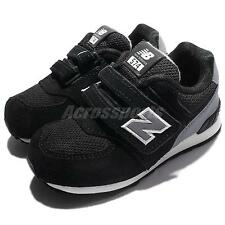 New Balance KV574CUI W Wide Black Grey Toddler Baby Infant Prewalkers KV574CUIW