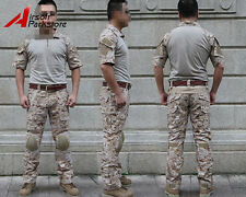 Emerson Tactical Military Combat Uniform Shirt Pants w/ Knee Pads Digital Desert