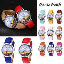 Women Leather Band Watch Rainbow Watches Analog Quartz Round Wrist Watch Watches