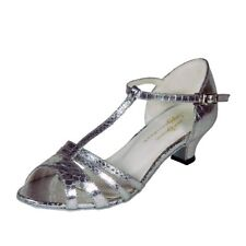 TAPPERS AND POINTERS SILVER MOCK - CROC PU BALLROOM & LATIN SHOES