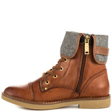 Tommy Hilfiger Womens Nahla Leather Almond Toe Ankle Fashion Boots