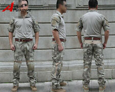 EMERSON Tactical Military Combat Uniform Shirt & Pants w/ Knee Pads A-TACS Camo