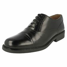 MENS CLARKS ASTUTE TOP BLACK LEATHER WIDE FITTING FORMAL LACE UP SHOES SIZE