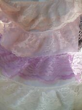 2  m x  80 mm White, Pink, Lilac, Purple,Burgundy Gathered Lace choose colour