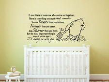 Winnie the Pooh Wall Decal Kids Quote Vinyl Sticker Decal Nursery Decor ZX210