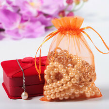 100 PCS  Luxury Wedding Party Candy Favour Organza Gift Bags Jewellery Pouch ty