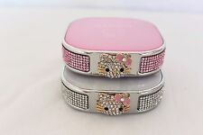 Hello Kitty Power Bank Cell Phone Rhinestone Bling Pink White USA FAST Ship