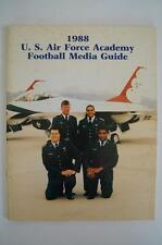 Vintage Football Media Press Guide Air Force Academy 1988