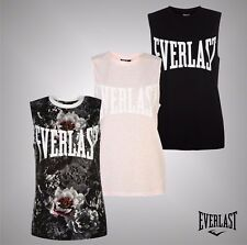 Ladies Branded Everlast Stylish Lightweight Tank Vest Fitness Crew Top Size 8-18