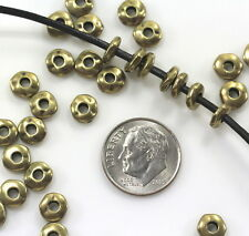 Large Hole Nugget Beads, Tierracast, 7mm Spacers, Antiq Brass, 20/100 Pcs, 5027
