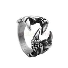 MagiDeal Claw Ring Steel Dragon Wolf Claw Gothic Tribal Punk Cool Ring Size 7-12