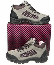 Womens Lace Up Walking Hiking / Trail Boots  Size UK 3 4 5 6 7 8 FREE SHIPPING