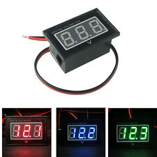 DC 2.5-30V Digital LED Display Waterproof Voltmeter Voltage Panel Meter 2-Wires