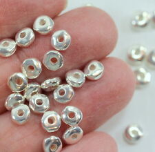 Nugget Beads, TierraCast, 5mm Silver Plate, Coin Spacer Beads 20 /100 Pcs, 3511