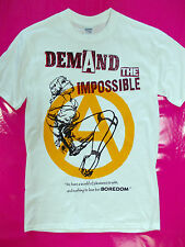 PUNK ROCK Demand The Impossible white t-shirt seditionaries style repro mcLaren
