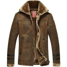 Hot Vogue mens winter coat warm Warm Hot thick wool Outwear Fur jacket parka