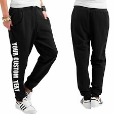 YOUR CUSTOM TEXT print on Jogging Bottoms Elasticated cuffs Printed Jogging pant