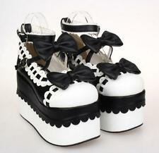 Womens Lolita Bowknot High Platform Ankle Strap Princess Mary Jane Cosplay Shoes