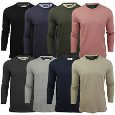 Mens Brave Soul Long Sleeved shirt T Shirt Crew Neck Casual Top S-XL
