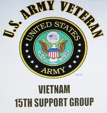 VIETNAM: U.S. ARMY VETERAN EMBLEM* NAME DROP U.S. MILITARY UNIT SHIRT LIST # 2