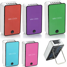 Mini Portable Hand Held Table Air Cooler Cooling USB Rechargeable Bladeless Fan