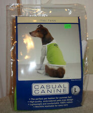 NIP Casual Canine Tiki Tank Top Shirt Dog Clothes Embroidered – Green or Orange