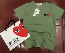 Men's Comme Des Garcons CDG Play Two Heart Short Women's Summer T-shirts 8 Color