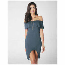 Sexy Girl Women Off Shoulder Sleeveless Collar Lotus Leaf A Line Bodycon Dresses