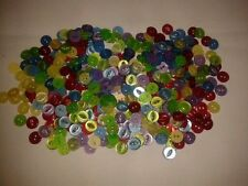50 Fish Eye Baby/Children's Buttons 11 mm 5 Colours Red Green Blue Yellow Purple
