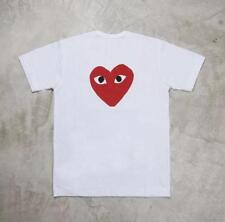 New Men's Comme Des Garcons CDG Play Lovely Red Heart Black eyes Short T-shirts