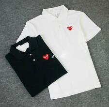 Men's Comme Des Garcons CDG Play Red Heart Short Polo Women's T-shirts Tops