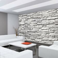 "Fleece Photo Wallpaper ""Noble Stone wall - gray - ENDLESS - stacking"" ! Tape"
