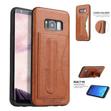 For Samsung Galaxy S8/S8+ New PU Leather Shockproof Card Stand Hard Case Cover