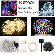 UK Solar Powered Light LED Outdoor Garden Lights Battery Fairy String Christmas