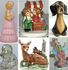 VINTAGE COLLECTIBLE FIGURINE LISTINGS Lefton/Avon/Homco Deer/Dachshund Dog/Clown