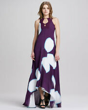 NEW Diane von Furstenberg DVF Starr Dress Floral Explosion Plum Purple Maxi 6