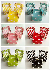 NEW ! 12 X Party Favour Gift Lolly Boxes Bomboniere - Chevron, Dots, Stripe
