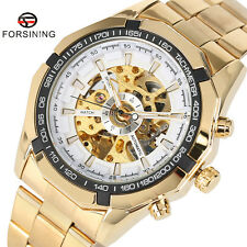 FORSINING 4 Colors Luxury Golden Band Men Automatic Mechanical Wrist Watch Gift