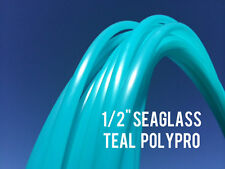 """Seaglass Teal 1/2"""" Polypro Dance Exercise Hula Hoop COLLAPSIBLE arm hoops"""