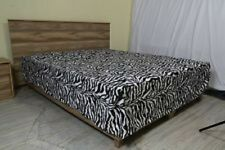 1 Qty Bed Skirt 100% Egyptian Cotton 1000 TC Zebra Print Deep Pkt 15 Inch